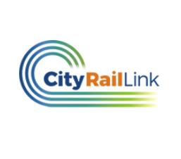 city rail link logo